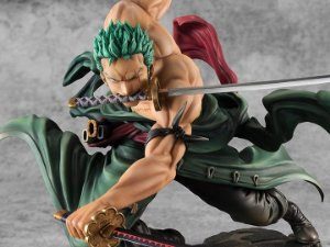 Roronoa Zoro Versão 3000 mundos One Piece Portrait of Pirates SA-Maximum Megahouse Original