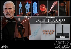 Count Dooku Star Wars Episodio II Ataque dos Clones Movie Masterpiece Hot Toys Original