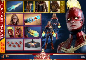 Capitã Marvel Marvel Comics Movie Masterpieces Hot Toys Original