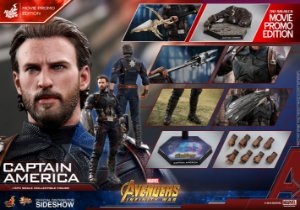 Capitão America Vingadores Guerra infinita Marvel Comics Movie Masterpiece Hot Toys Original