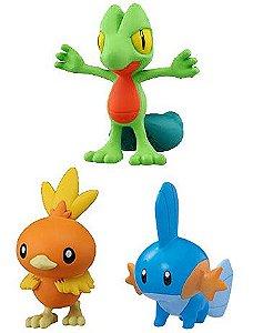 Treecko Torchic e Mudkip Pokemon Series Takara Tomy Original
