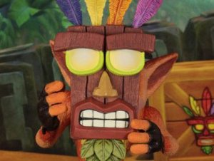 Crash Bandicoot Mascara Aku Aku Crash Bandicoot Neca Original