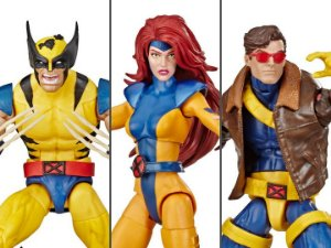 Wolverine Jean Grey e Cyclope Marvel Comics Aniversário 80 anos Marvel Legends Hasbro Original