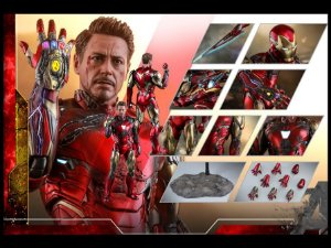Homem de Ferro Mark 85 Versão Battle Damaged Vingadores Ultimato Movie Masterpiece Diecast Hot Toys Original