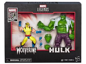 Hulk vs Wolverine Marvel Comics Aniversário 80 anos Marvel Legends Hasbro Original
