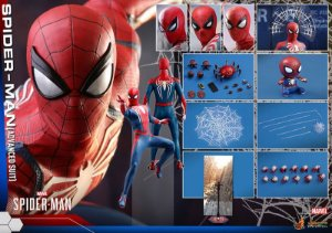 Homem aranha Traje avançado Marvel Comics Video Game Masterpiece Hot Toys Original