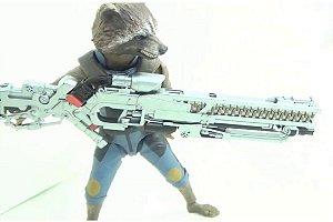 Rocket Raccoon Vingadores Guerra infinita Marvel S.H. Figuarts Bandai Original