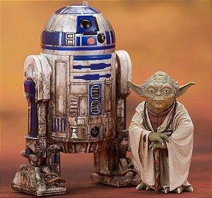 R2-D2 & Yoda Star Wars Episode V O império contra-ataca Artfx+ Kotobukiya Original