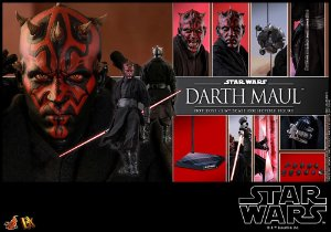 Darth Maul Star Wars Episódio I A ameaça fantasma Movie Masterpiece Dx16 Hot Toys Original