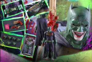 Batman The Joker versão Impostor Esquadrão Suicida Movie masterpiece Hot Toys Original