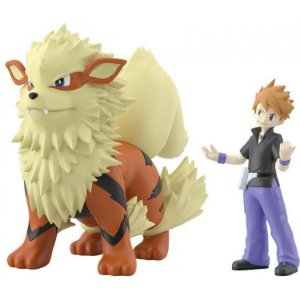 Blue e Arcanine Pokemon Scale World Bandai Original