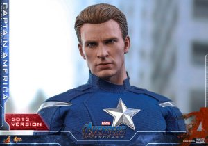 Capitão America versão 2012 Vingadores Ultimato Movie Masterpiece Hot Toys Original