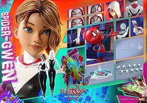 Gwen-Aranha Homem-Aranha no Aranhaverso Marvel Comics Movie Masterpiece Hot Toys Original