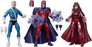 Magneto & Feiticeira Escarlate & Mercúrio Marvel Comics Aniversário 80 anos Marvel Legends Hasbro Original