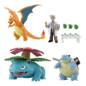 Professor Carvalho e set Pokemons Pokemon Scale World Bandai Original