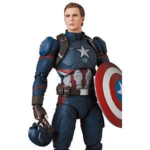 Capitão America Vingadores Ultimato Marvel Comics Mafex No.130 Medicom Toy Original