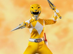 Ranger Amarelo Power Rangers Mighty Morphin Threezero original