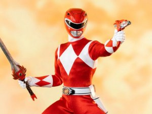 Ranger Vermelho Power Rangers Mighty Morphin Threezero original