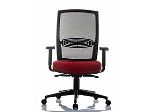 Cadeira Escritório Snap Alta Encosto em Tela *Ajuste de inclinação Sincronizado*