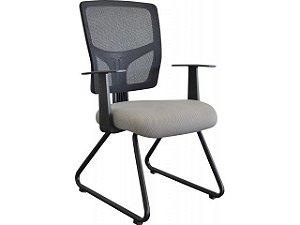Cadeira Escritório Eco Encosto em Tela c/ Base Fixa Trapezoidal