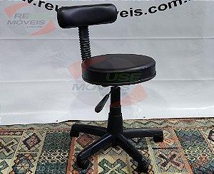 Cadeira Mocho Encosto RT para Clinicas Estética, Laboratorio, Tatoo