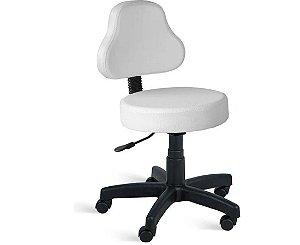 Cadeira Mocho Encosto ET para Clinicas Estética, Laboratorio, Tatoo