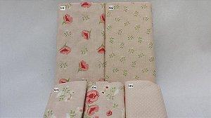 Coleção Floral Julho. Tecidos Nacionais (50x75cm)