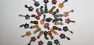 Cursor de Ziper 5mm :  Flor, Pingente, Coração - cores disponíveis na 2ª foto (combinando com as Alças do TonComTon)