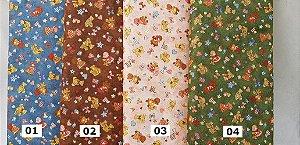 Pequenas Sunbonnets. Tecido em Algodão 100% Japonês em Fat Quarter   (50cm x 55cm)