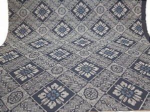 Blue Square. Tecido Japonês 100% Algodão (50x55cm)