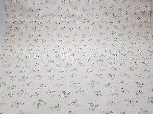Shy Flower. Tecido Japonês Algodão+Linho (50x55cm)