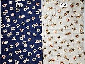 Shogi. Tecido Japonês 100% Algodão (50x55cm)