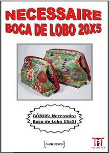 Necessaire Boca  Lobo 20 x 5cm