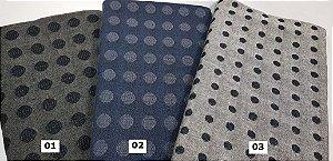Taupe. Balls. Tecido Japonês 100% Algodão (25cm X 55cm)