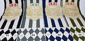"""Coleção Os Bichos - """"Leão """". Painel em Algodão+Linho Japonês"""