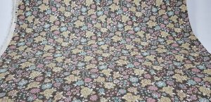 Brown Flower. Tecido em Algodão+Linho (50x110cm)