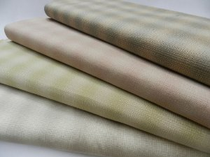 Taupe (ou Sakizome) Soft Stripes  (25cm x 55cm)