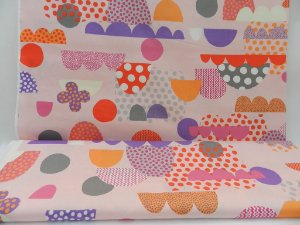 """Colorful Mountain.  Tecido Linho (""""Cotton Linen"""") em Fat Quarter  (50cm x 55cm)"""