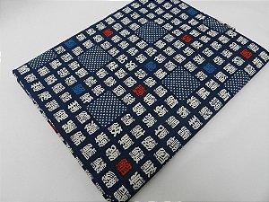 Sakana Kanji. Tecido 100% Algodão  em Fat Quarter (50cm x 55cm)
