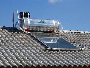 Aquecedor solar compacto plano kit completo aqueça sua residencia naturalmente + economia