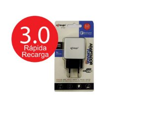 Carregador Turbo 3.0 Qualcomm - Knup