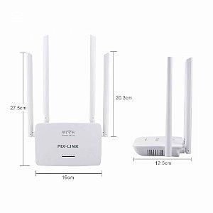 Roteador 4 Antenas 300Mbps