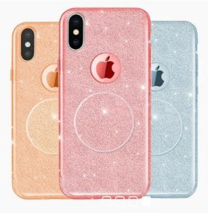 Capinha Com Pop Socket Glitter