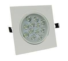 Spot Quadrado de LED 12W - Embutir
