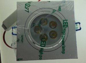 Spot Quadrado de LED 5W - Embutir
