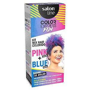 Kit Tonalizante Salon Line Color Express Fun Pink+Blue 100ml