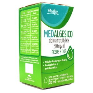 DIPIRONA 20ml gts MEDALGESICO - MEDLEY