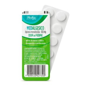 DIPIRONA 500MG 10 CPR MEDALGESICO - MEDLEY