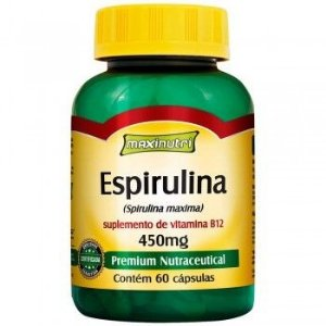 Espirulina 450mg c/ 60caps Maxinutri