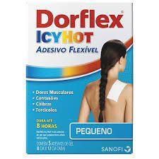 DORFLEX ICY HOT com 5 Adesivos Pequenos (8x12cm)